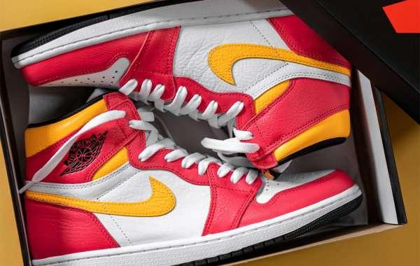 "555088-603 Air Jordan 1 Retro High OG ""Light Fusion Red"" is here"