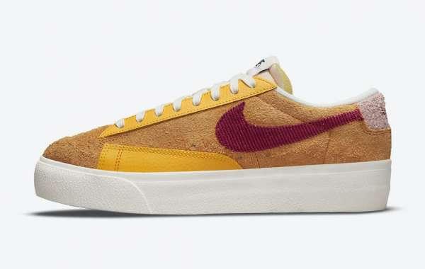 "New Nike Wmns Blazer Low Platform ""Sunset"" DO6721-700 Style look good!"